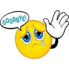 Crying emoji saying goodbye